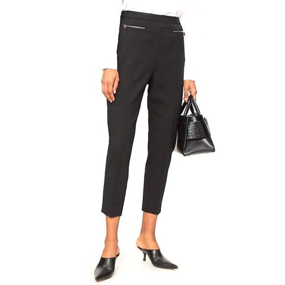 MaxMara Pants - Max Mara Cropped Slim Ankle Wool Trousers